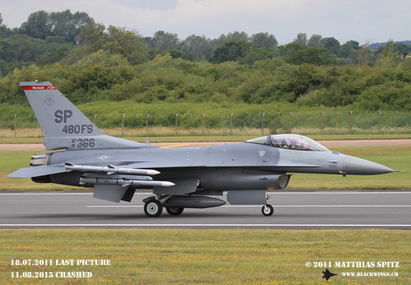 F-16C 91-0366 crashed in Germany